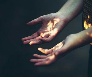 hands, light, and photography image