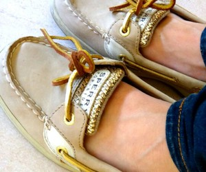 fashion, sperry, and gold image