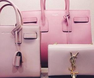 bag, pink, and YSL image