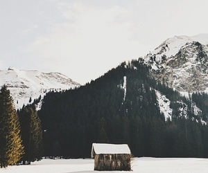cold, house, and mountains image