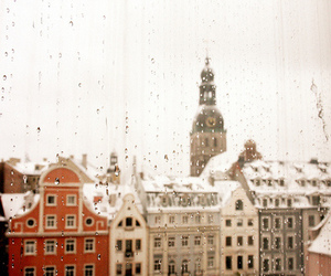 rain, city, and window image