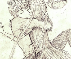 couple, sketch, and cute af image