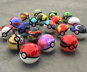 pokemon, pokeball, and pokeballs image