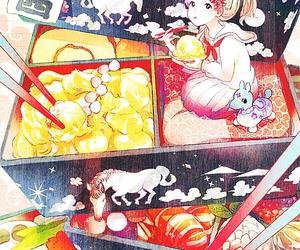 anime, kawaii, and food image