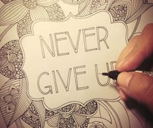 art, draw, and nevergiveup image