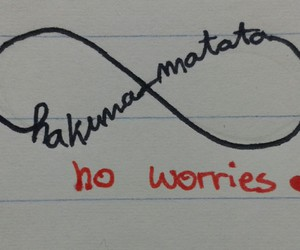 hakuna matata, ♥, and no worries image