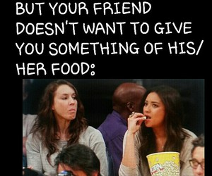 food, funny, and pretty little liars image