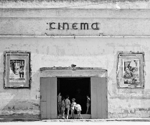 cinema, black and white, and vintage image
