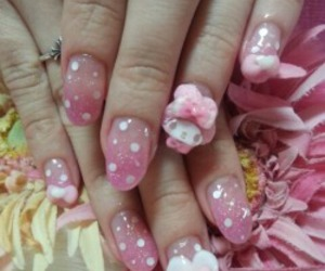 kawaii, nails, and pastel image