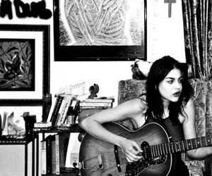 frances bean cobain and guitar image