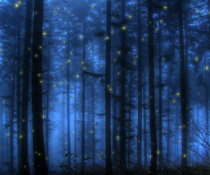 awesome, dark, and fireflies image