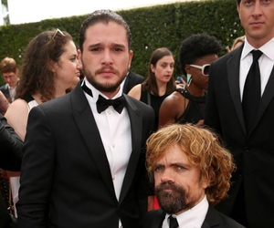 game of thrones, peter dinklage, and jon snow image