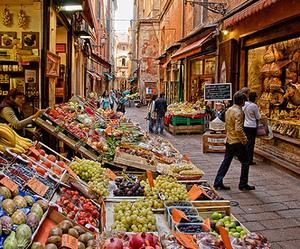 italy, market, and bologna image