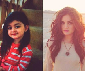 lucy hale, little, and baby image