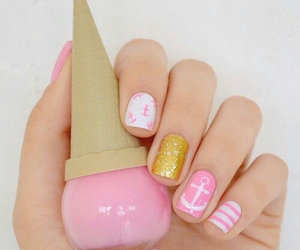 gold, icecream, and pink image