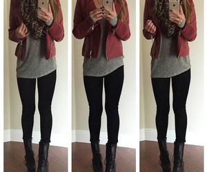 automn, black jeans, and high heels image