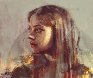 doctor who, clara oswald, and art image