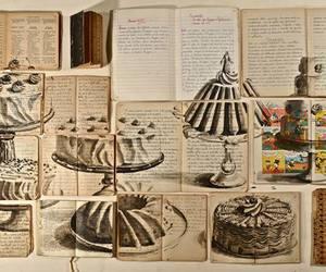 art, book, and cake image