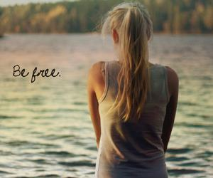 blond, water, and free image