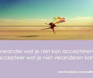 quote, positiviteit, and geluk image