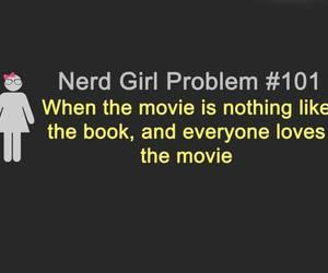 book, nerd, and movie image
