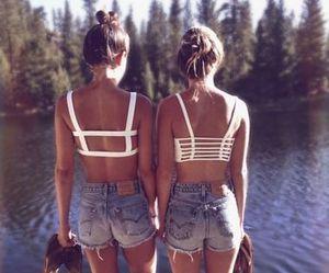 denim, lake, and shorts image