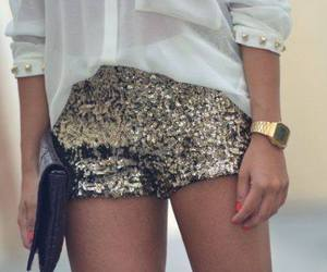 shirt, fashion, and gold image