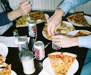 pizza, food, and coke image