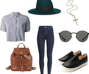 bag, blouse, and clothes image
