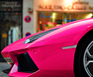 car, pink, and lambo image