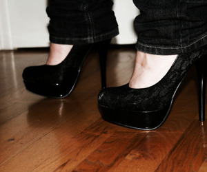black, vintage, and heels image