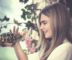 cara delevingne, model, and turtle image