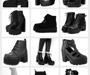 and, black, and boots image