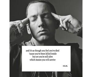 alone, eminem, and rap image