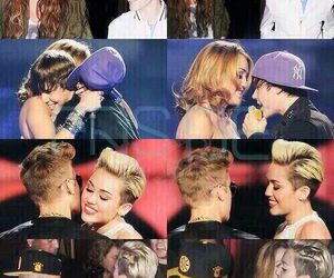 miley cyrus, justin bieber, and jiley image