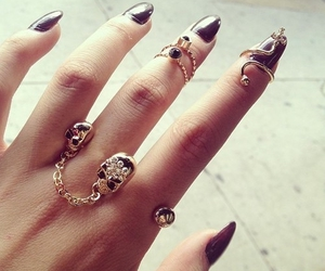 accessories, fashion, and nail art image