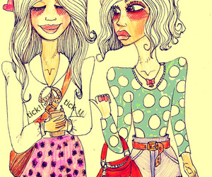 girl, valfre, and drawing image