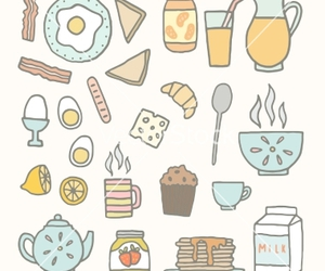 breakfast, doodle, and food image