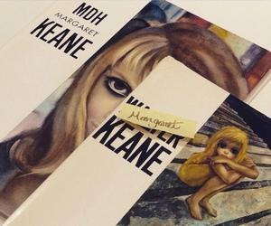 art, big eyes, and books image
