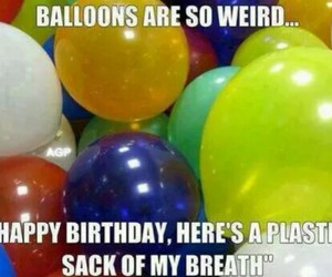 balloons, funny, and birthday image