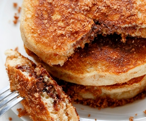 pancakes, sweet, and Cinnamon image