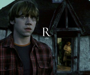 ron weasley, harry potter, and hogwarts image