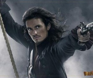 orlando bloom, pirate, and pirates of the caribbean image