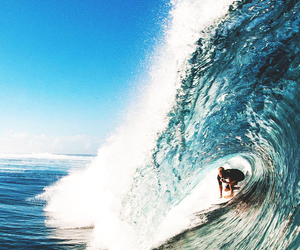 blue, sky, and surf image