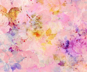 abstract, floral, and pink image