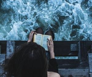 book, girl, and good time image