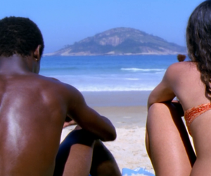 beach, couple, and film image