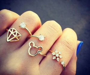 rings, diamond, and nails image