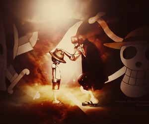luffy, onepiece, and shanks image