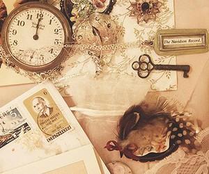 clock, key, and tumblr image